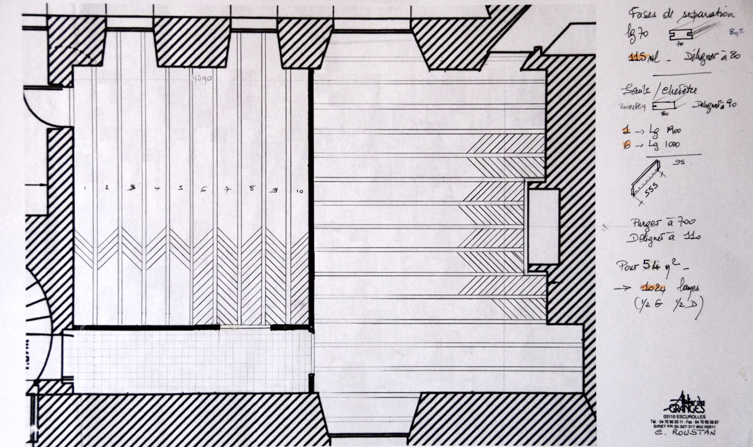 Drawing Plan Parquets De Tradition 12