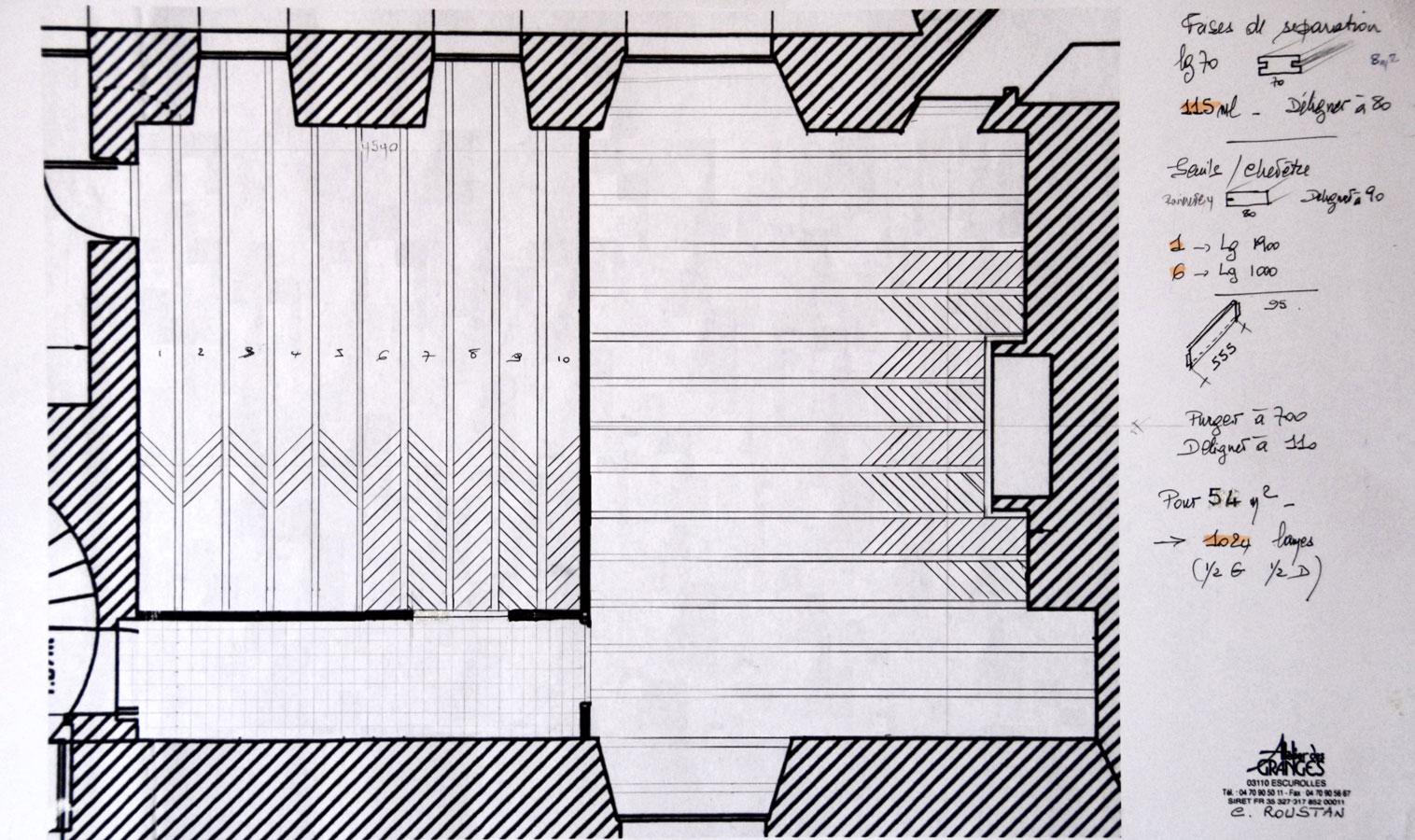 drawing plan parquets de tradition 12. Black Bedroom Furniture Sets. Home Design Ideas