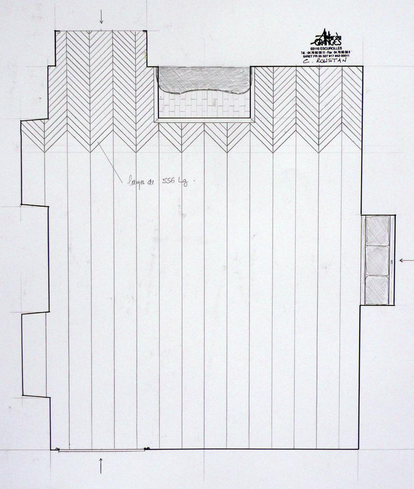 Wood floor in