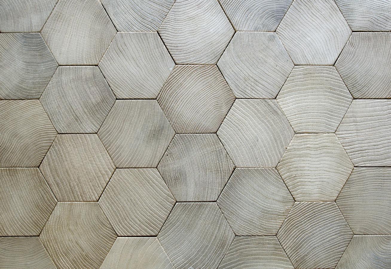 Wood Cut In Hexagonal Form Parquets De Tradition 111