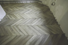 Parquet floor Chevron in oak