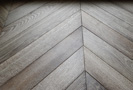 Focus on the oak parquet floor Chevron