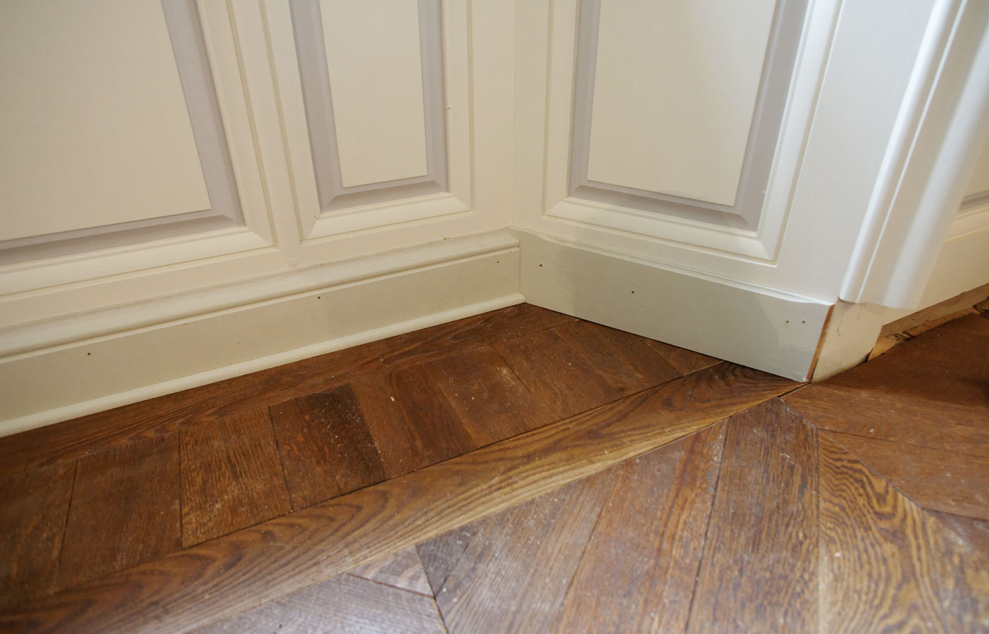 Parquet floor with an old apperence