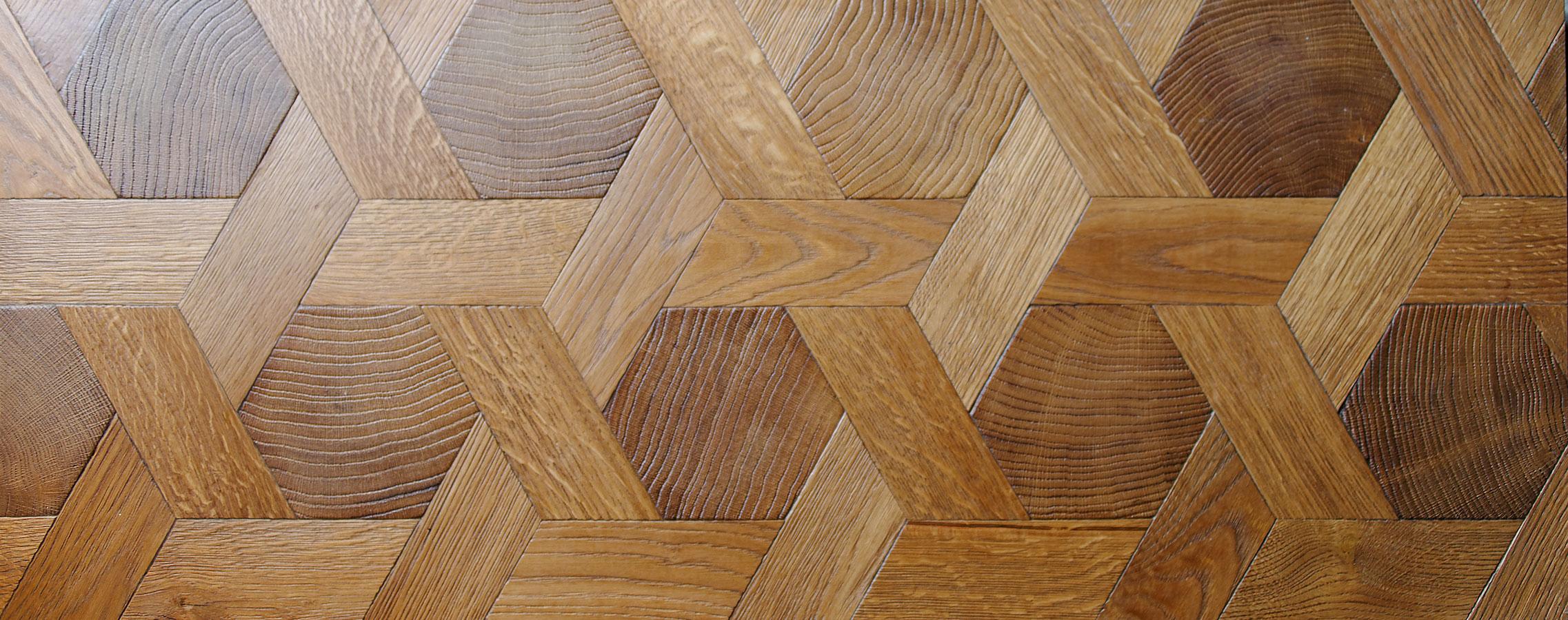 Hexagone Bois : Hexagone en bois debout, chne