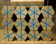 A hexagon parquet floor ready to ship