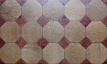 End grain Octagonal parquet floor in oak with