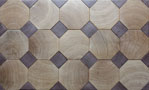 End grain wooden floor Octagon in oak with walnut U.S.