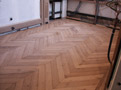 General view of Herringbone parquet in another room