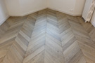 General view of the parquet Herringbone
